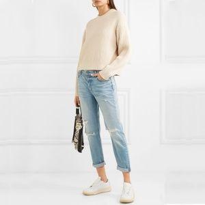 GRLFRND Olivia Distressed Slim Boyfriend Jeans
